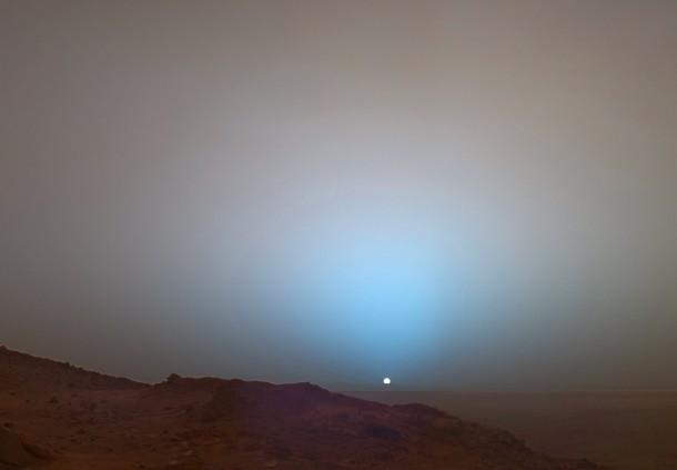 sunset  mars